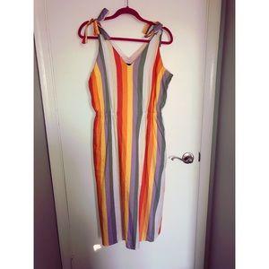 Mossimo - Rainbow Stripe Midi Dress